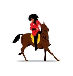 North Caucasus rider Cartoon vector