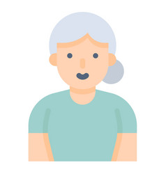 old woman flat style icon vector image