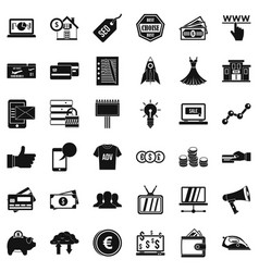 online commerce icons set simple style vector image