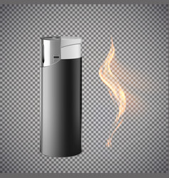 realistic cigarette lighter vector image