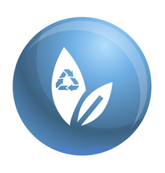 recycle leaf icon simple style vector image