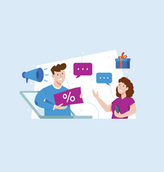 referral marketing vector image