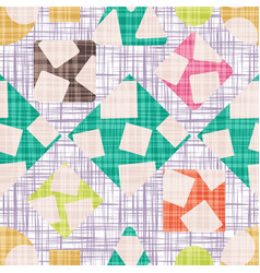 Retro design tissue with geometric shapes vector