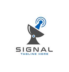 satellite signal tower modern logo vector image