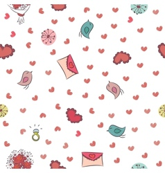 Seamless background for Valentines Day vector image