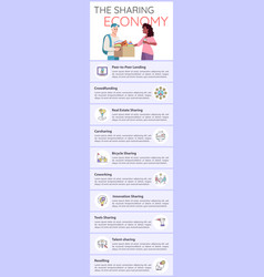 Sharing economy infographic template vector