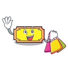 shopping ticket character cartoon style vector image