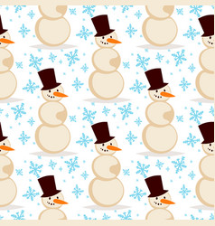 snowman christmas season winter white man vector image