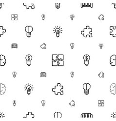 solution icons pattern seamless white background vector image