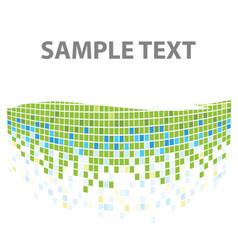 squares mosaic texture green tones vector image