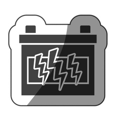 Sticker monochrome battery with half shaded vector