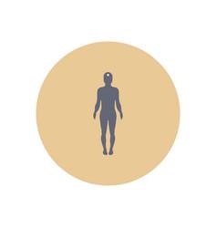 Stylish icon in color circle body stroke vector