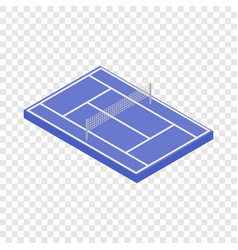 tennis court isometric icon vector image