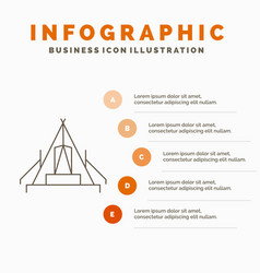 Tent camping camp campsite outdoor infographics vector