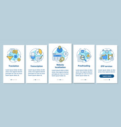 Text services onboarding mobile app page screen vector