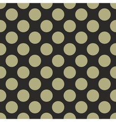 Tile pattern green polka dots on black background vector