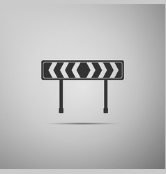 Traffic sign road road block sign vector