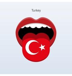 Turkey language abstract human tongue vector
