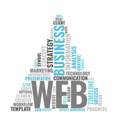 Web marketing word cloud bussiness concept vector