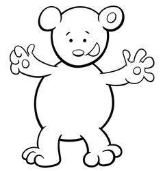bear cartoon coloring book vector image