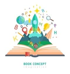 Book concept vector image