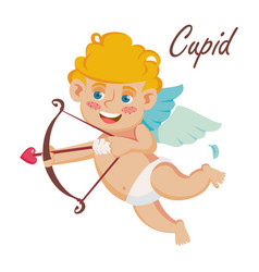 Cupid cupids bow happy valentine s day vector