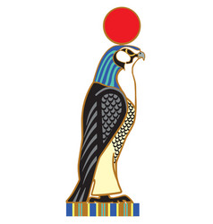 Egyptian falcon horus vector