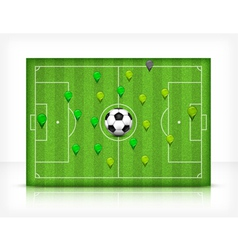 green playing field 10 v vector image