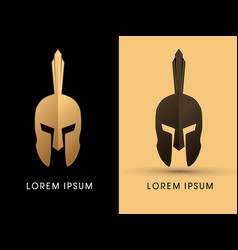 luxury roman or greek helmet vector image vector image