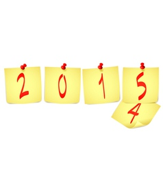 New Year paper note vector image