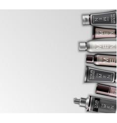 Set of cosmetics for men vector