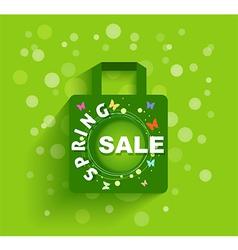 Shopping bag spring sale background vector image