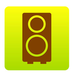 speaker sign brown icon at vector image
