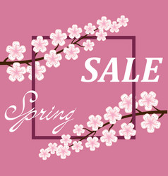 spring sale poster background vector image vector image
