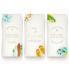 Travel and vacation banners with type design vector image vector image