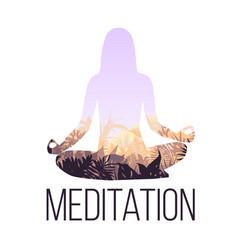 yoga balance concept vector image