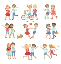 Young Love Teenager Couples vector image vector image