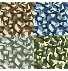 Army camouflage hunter combat camo vector image vector image