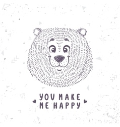 bear cute doodle vector image vector image