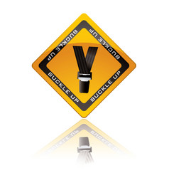 buckle up vector image vector image