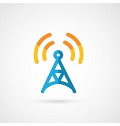 Flat icon of radio tower vector