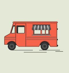 flat retro truck vector image