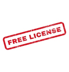 Free License Text Rubber Stamp vector image