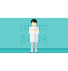 Male laboratory assistant vector image