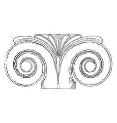 Proto ionic capital discovered on the eastern vector
