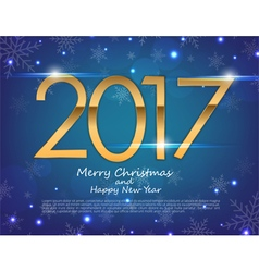 Happy New Year 2017 text design greeting vector image