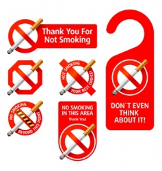 no smoking signs vector image