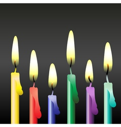 party candles vector image