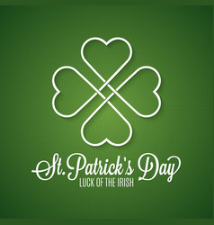 patricks day holiday spring background vector image