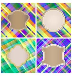 Set of vintage labels on the striped background vector image vector image